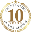 Celebrating 10 Years in the Region